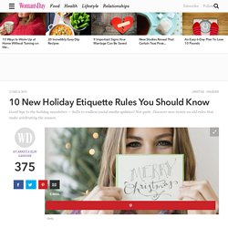 Holiday Rules - Christmas Card Etiquette
