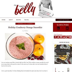 Holiday Cranberry Orange Smoothie