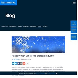 Holiday Wish List for the Storage Industry - Kaminario