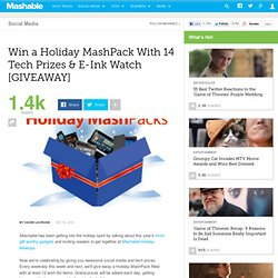 Giveaway: Win a Holiday MashPack With 14 Tech Prizes & Internet Radio Player