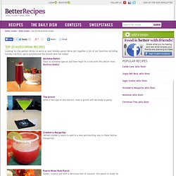 Holiday Mixed Drink Recipes – Drink Recipe Ideas for Your Holiday Party