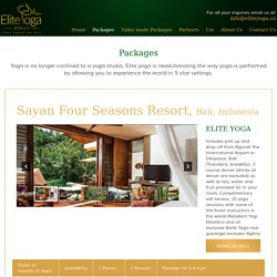 Holiday package with yoga retreat, suites with yoga package