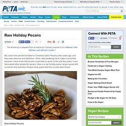 Raw Holiday Pecans