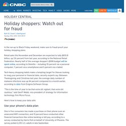 Holiday shoppers: Watch out for fraud