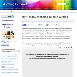 My Holiday Webbing Bubble Writing – Educating Her World