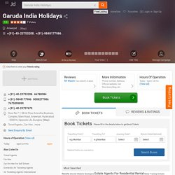 Garuda India Holidays, Ameerpet, Hyderabad - Travel Agents - Justdial