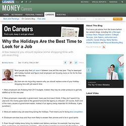 Why the Holidays Are the Best Time to Look for a Job