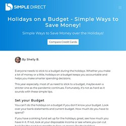 Holidays on a Budget - Simple Ways to Save Money!