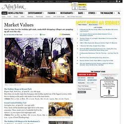 Holidays in New York City -- Fairs and Markets