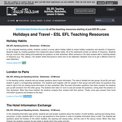 Holidays Travel - ESL EFL Teaching Resources