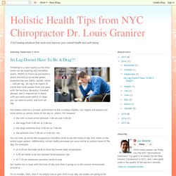 Tips to Avoid Jet Lag by a NYC Chiropractor