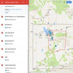Holistic Dentist Utah– Google MyMaps