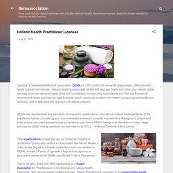 Holistic Health Practitioner Licenses