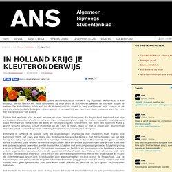 In Holland krijg je kleuteronderwijs
