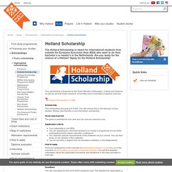 Holland Scholarship — Study in Holland