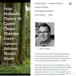 John Holland's Theory Of Career Choice – Theories Every Careers Adviser Should Know