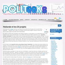 Hollande et les 34 projets