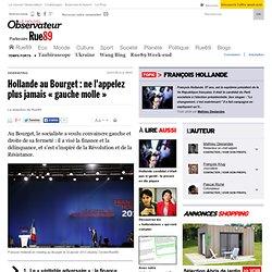 Hollande au Bourget: ne l'appelez plus jamais «gauche molle»