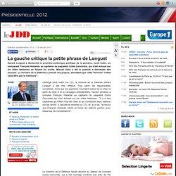 Gérard Longuet compare Hollande au capitaine du Costa Concordia