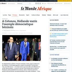 A Cotonou, Hollande vante l'exemple démocratique béninois