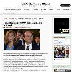 Hollande dépense 900000€ pour son séjour à New York