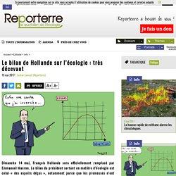 Le bilan de Hollande sur l'écologie: très décevant