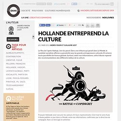 Hollande entreprend la culture