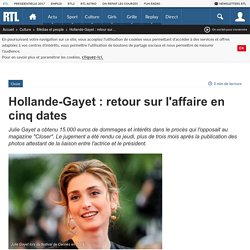 Hollande-Gayet : retour sur l'affaire en cinq dates