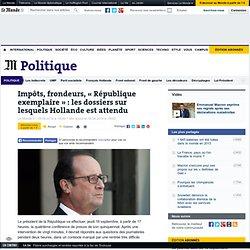 Hollande à l'heure du bilan de mi-mandat
