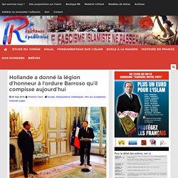 Hollande a donné la légion d'honneur à l'ordure Barroso qu'il compisse aujourd'hui