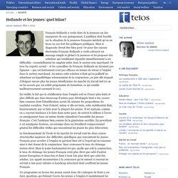Hollande et les jeunes: quel bilan?