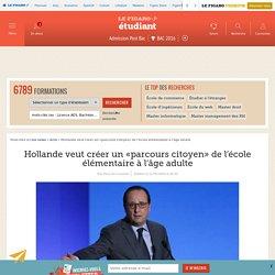 Hollande veut créer un «parcours citoyen» de l'école élémentaire à l'âge adulte