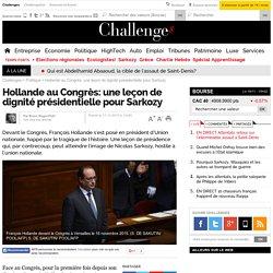 Hollande au Congrès: une leçon de dignité présidentielle pour Sarkozy