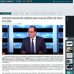 Hollande promet des tablettes pour tous les élèves de 5ème d'ici 2016