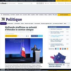 Hollande réaffirme sa volonté d'étendre le service civique