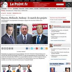 Bayrou, Hollande, Sarkozy : le match des projets