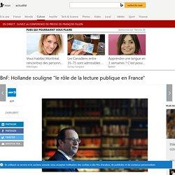 """BnF : F. Hollande souligne """"le rôle de la lecture publique en ..."""
