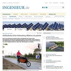 Holländischer Solar-Fahrradweg effektiver als gedacht