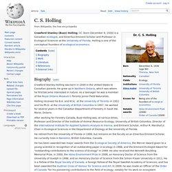 C. S. Holling
