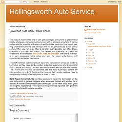 Hollingsworth Auto Service: Savannah Auto Body Repair Shops
