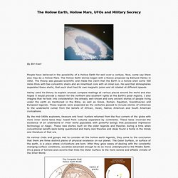The Hollow Earth, Hollow Mars, UFOs and Military Secrecy