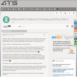Hollow Earth: Evidence of FantasyLand (Must See !), page 1