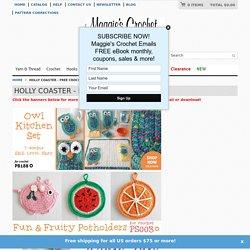 Holly Coaster - Free Crochet Pattern