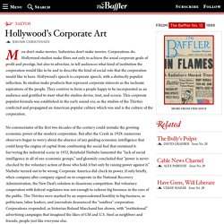Hollywood's Corporate Art