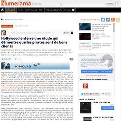 Hollywood enterre une étude qui démontre que les pirates sont de bons clients