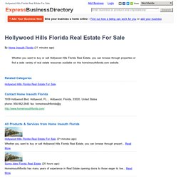 Hollywood Hills Florida Real Estate For Sale