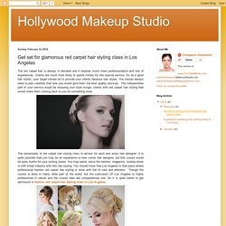 Hollywood Makeup Studio: Get set for glamorous red carpet hair styling class in Los Angeles