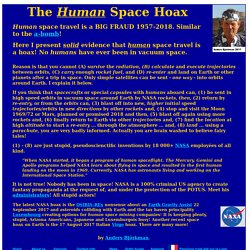 Human space travel is not possible ... except in Hollywood - Introduction - 19 August 2016