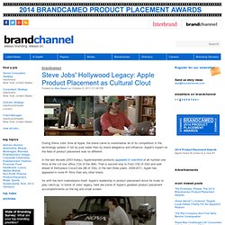 Steve Jobs' Hollywood Legacy: Apple Product Placement as Cultural Clout