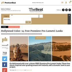 Hollywood Color: 14 Free Premiere Pro Lumetri Looks